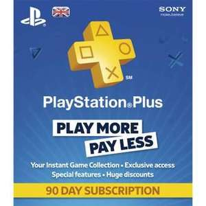 PlayStation Plus 90 Day Membership Card - £8.89 with code or  £35.56 for 12 months @ Rakuten / gameseek