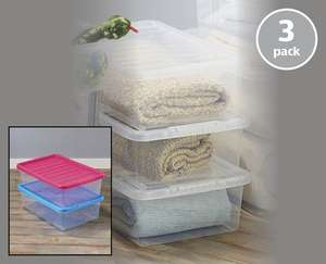 32 Litre Underbed Storage Boxes (Pack of 3) - £7.99 @ Aldi