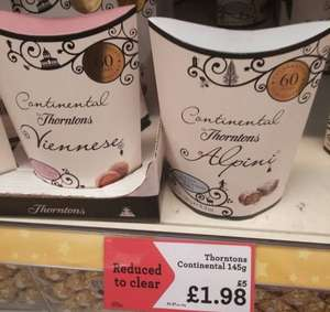 Thorntons Continental Alpini 180g reduced to £1.98 from £5 @ Morrisons (Viennese also available)