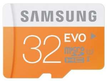 Samsung evo 32gb micro sd card with sd adapter £11.68 @ Amazon