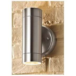 Light up your life - Stainless Steel Up Down Wall Light just £9.99 at Screwfix click and collect.