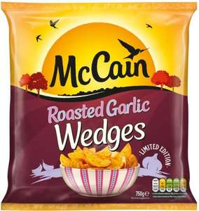 McCain Lightly Spiced or Garlic Wedges (750g) was £1.50 now £1.00 @ Iceland