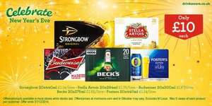 New Year Celebrations with crates of beer - £10 @ Morrisons