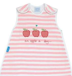 Grobag Apple a day Baby Sleep Bag - 0 - 6 Months (Tog 1.0) £4.99 delivered @ Wellies & Worms