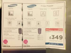 samsung fridge freezer deal for Christmas £349 @ Currys