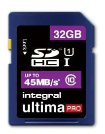 Integral 32GB UltimaPro SDHC Card 45MB/s Class 10 UHS-1 @ MYMEMORY £8.99