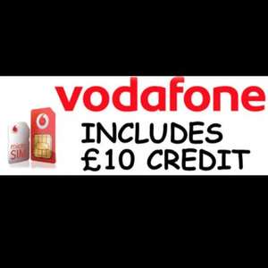Vodafone Combi Sim With £10 Credit £4.50 delivered @ eBay / JustSims
