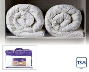 Duck feather 13.5 tog duvet £29.99 from Aldi