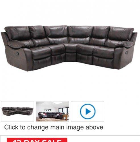 Leather large corner sofa with manual recliner £799.00  @ Harveys