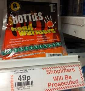 Little Hotties Hand Warmers only 49p per pair at Savers