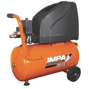 IMPAX ZBW60B/2-24 24Ltr Compressor 230V @ screwfix was £89.99 now £79.99