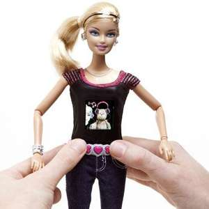 barbie photo fashion doll ( doll takes pictures which show on her t - shirt ) £14.99 @ toys r us online