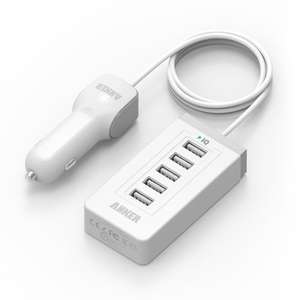 White Anker® 40W 5-Port USB Car Charger with PowerIQ™ Technology - £11.99 Sold by AnkerDirect and Fulfilled by Amazon.