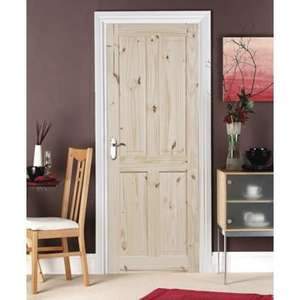 [Glitch] 4 X London Knotty Pine 4 Panel Internal door @ Homebase (£22.39 each) £89.58