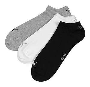 Puma 3 Pack Invisible trainer Socks only £1 @ JD Sports online.