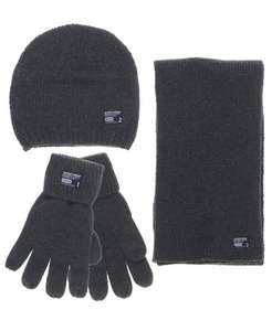 Mens Superdry Superbundle Hat Scarf and Glove set Charcoal £14.99 Delivered @ superdry outlet - eBay