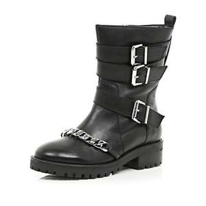 River Island REAL LEATHER boots down from £75 to £15 in the SALE!