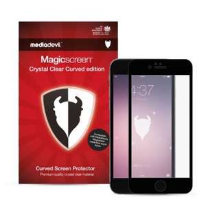 Mediadevil Crystal Clear Curved edition - iPhone 6 (Black or White and Plus) Full-screen New Product £5.97 @ Amazon  sold by MediaDevil.