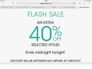 JAEGER FLASH SALE additional 40% off outlet prices