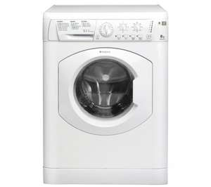 HOTPOINT HE8L493P Washing Machine - White @ Currys