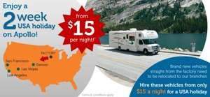 USA Apollo RV Re-Location from Iowa RV Factory to Denver/Las Vegas/LA/San Fran