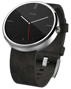 Motorola Moto 360 Smartwatch- Light Chrome/Stone Leather Strap at Ebuyer.com with free delivery- £186.62