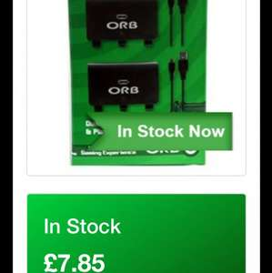 Orb Xbox one play and charge kit £7.85 @ simply games