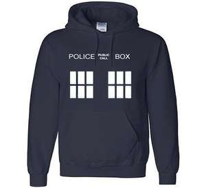Doctor Who Police Box Hoodie Top From £10.96 Delivered @ Amazon