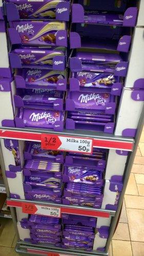 Milka 100g chocolate 50p @ Morrisons