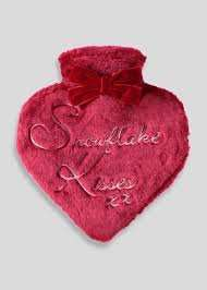 Heart shaped hot water bottle @ matalan £1.50