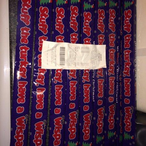 Endless wispa Christmas chocolate bar scanning at 37p at tesco