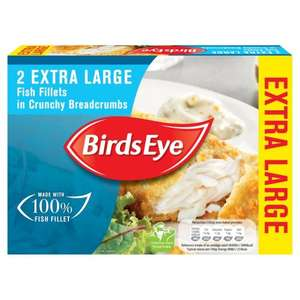 Birds Eye 2 Extra Large Fish Fillets in Crunchy Breadcrumbs 320g - £1 @ Heron Foods
