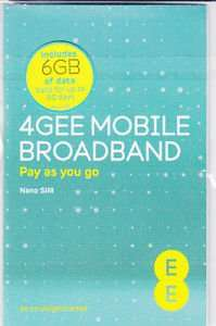 EE 4G Data nano Simcard for iPads and Tablets 6GB 90days just £13.99 @ Currys