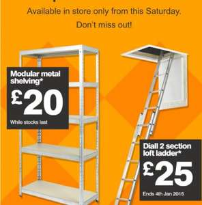 B&Q weekend sale - modular metal shelving £20