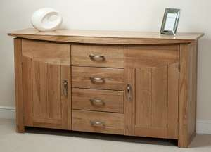 Oak sideboard from Oak Furniture Land - £449 + 7% cashback from quidco.@ Oak Furniture Land