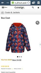 Boys bus coat now £4 reduced from £8. Asda direct. free c+c