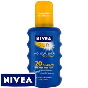 Nivea sun creams most factors £3.99 @ homebargains