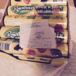 Rowntrees Fruit mix 25p tesco instore