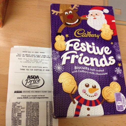 Cadbury festive biscuits 25p @ Asda