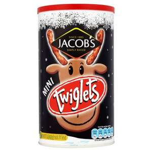 Tubs of Jacobs Treeslets (Cheeselets) and Twiglets  10p instore waitrose