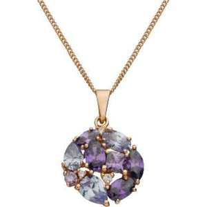 9ct Rose Gold Plated Silver Purple and White CZ Pendant - WAS £39.99 - NOW  £11.99! @ Argos