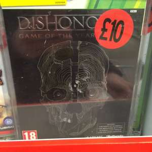 Dishonoured - Game of the year edition, 360 - £10 in Sainsburys
