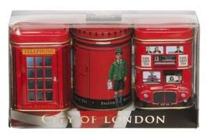 City of London Tea Caddies, 3 x 25g of Loose Tea, £1.99, Free Delivery To Store or £2.99 Saver Delivery @ WH Smith