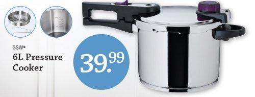 Lidl NI  6L Pressure Cooker €39.99