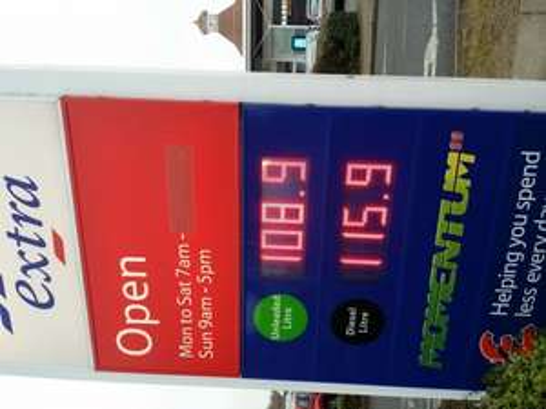 Tesco Twickenham Petrol 108.9 Diesel 115.9