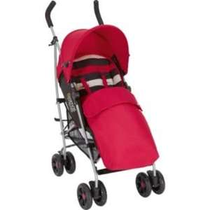 Mamas and Papas Swirl Pushchair - Red Stripe @ Argos £54.99 WAS £129.99