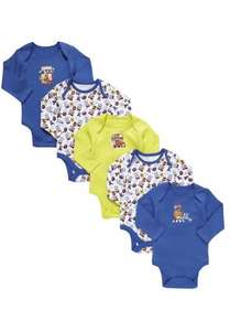 Disney The Muppets 5 Pack of Long Sleeve Bodysuits £3.50 @ Tesco Direct