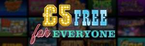Free £5 for everyone, no deposit required... today only @ Sky Vegas