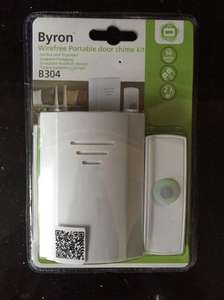 Byron Wireless Doorbell Door Chime £2.50 in Tesco