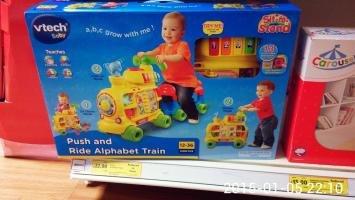 VTech Baby Push and Ride Alphabet Train - Tesco Instore £23